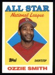 1988 Topps #400  All-Star  -  Ozzie Smith Front Thumbnail