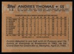 1988 Topps #13  Andres Thomas  Back Thumbnail