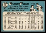 1965 Topps #83   George Thomas Back Thumbnail