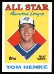 1988 Topps #396   -  Tom Henke All-Star Front Thumbnail
