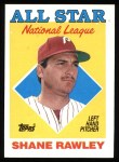 1988 Topps #406  All-Star  -  Shane Rawley Front Thumbnail