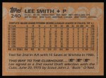 1988 Topps #240   Lee Smith Back Thumbnail