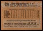 1988 Topps #449   Jeff M. Robinson Back Thumbnail