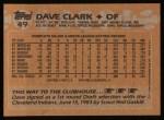 1988 #49  Dave Clark  Back Thumbnail