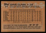 1988 Topps #49   Dave Clark Back Thumbnail