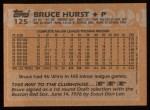 1988 Topps #125  Bruce Hurst  Back Thumbnail