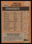 1988 Topps #405  All-Star  -  Dwight Gooden Back Thumbnail
