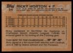 1988 Topps #34   Ricky Horton Back Thumbnail