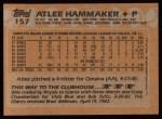 1988 Topps #157  Atlee Hammaker  Back Thumbnail