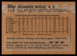 1988 Topps #119  Robbie Wine  Back Thumbnail