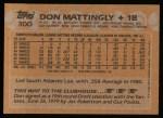 1988 Topps #300   Don Mattingly Back Thumbnail