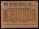 1988 Topps #192   Devon White Back Thumbnail