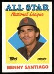 1988 Topps #404  All-Star  -  Benny Santiago Front Thumbnail