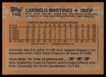 1988 Topps #148  Carmelo Martinez  Back Thumbnail