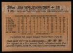 1988 Topps #106  Jim Walewander  Back Thumbnail