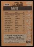1988 Topps #407   -  Steve Bedrosian All-Star Back Thumbnail