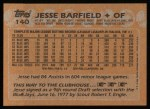 1988 Topps #140   Jesse Barfield Back Thumbnail