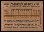 1988 Topps #198  Franklin Stubbs  Back Thumbnail