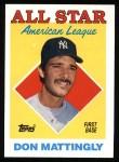 1988 Topps #386  All-Star  -  Don Mattingly Front Thumbnail