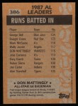 1988 Topps #386   -  Don Mattingly All-Star Back Thumbnail