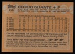 1988 Topps #84   Cecilio Guante Back Thumbnail