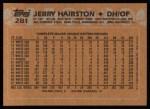 1988 Topps #281   Jerry Hairston Back Thumbnail