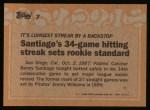 1988 Topps #7  Record Breaker  -  Benito Santiago Back Thumbnail