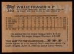 1988 Topps #363   Willie Fraser Back Thumbnail