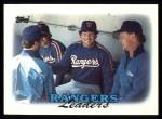 1988 Topps #201  Rangers Leaders  Front Thumbnail