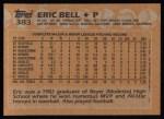 1988 Topps #383  Eric Bell  Back Thumbnail