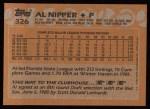 1988 Topps #326   Al Nipper Back Thumbnail