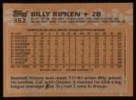 1988 Topps #352   Bill Ripken Back Thumbnail