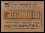 1988 Topps #339  Kurt Stillwell  Back Thumbnail