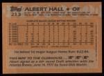 1988 Topps #213  Albert Hall  Back Thumbnail
