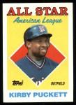 1988 Topps #391  All-Star  -  Kirby Puckett Front Thumbnail