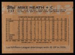 1988 Topps #237   Mike Heath Back Thumbnail