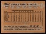 1988 Topps #346   Vance Law Back Thumbnail
