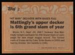 1988 Topps #2  Record Breaker  -  Don Mattingly Back Thumbnail
