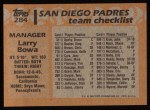 1988 Topps #284  Larry Bowa  Back Thumbnail