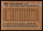 1988 Topps #78   Dan Petry Back Thumbnail