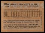 1988 Topps #120   Kirby Puckett Back Thumbnail