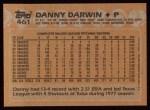 1988 Topps #461  Danny Darwin  Back Thumbnail