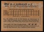 1988 Topps #491   B.J. Surhoff Back Thumbnail