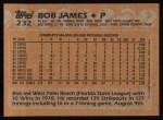 1988 Topps #232  Bob James  Back Thumbnail