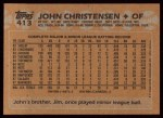1988 Topps #413  John Christensen  Back Thumbnail