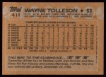 1988 Topps #411  Wayne Tolleson  Back Thumbnail
