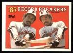 1988 Topps #4  Record Breaker  -  Eddie Murray Front Thumbnail