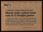 1988 Topps #4  Record Breaker  -  Eddie Murray Back Thumbnail