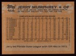 1988 Topps #466  Jerry Mumphrey  Back Thumbnail