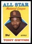 1988 Topps #402   -  Tony Gwynn All-Star Front Thumbnail